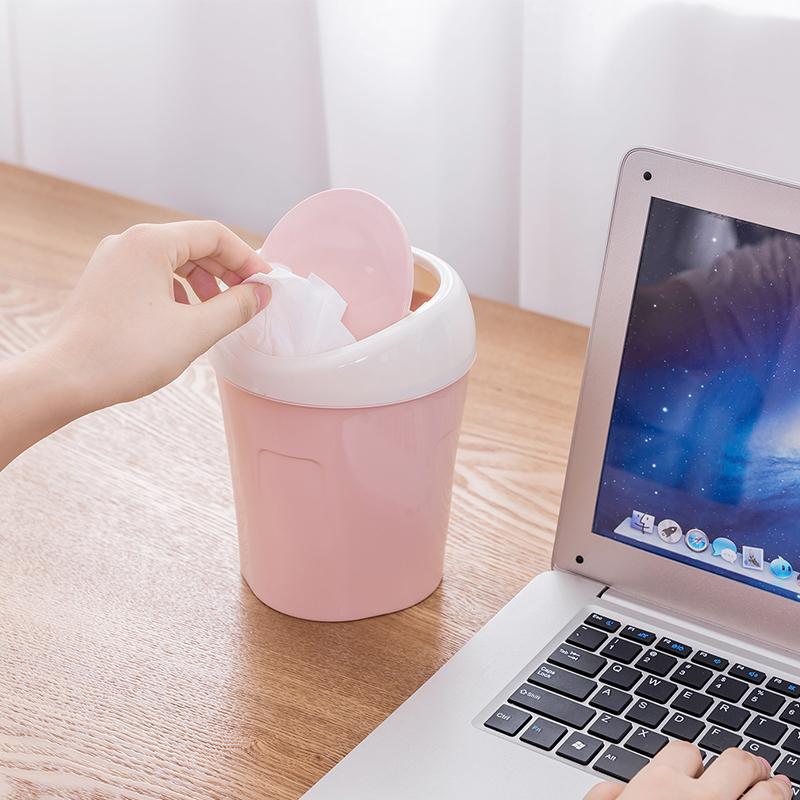 Thùng rác mini BUDECOR Pastel để bàn xinh xắn
