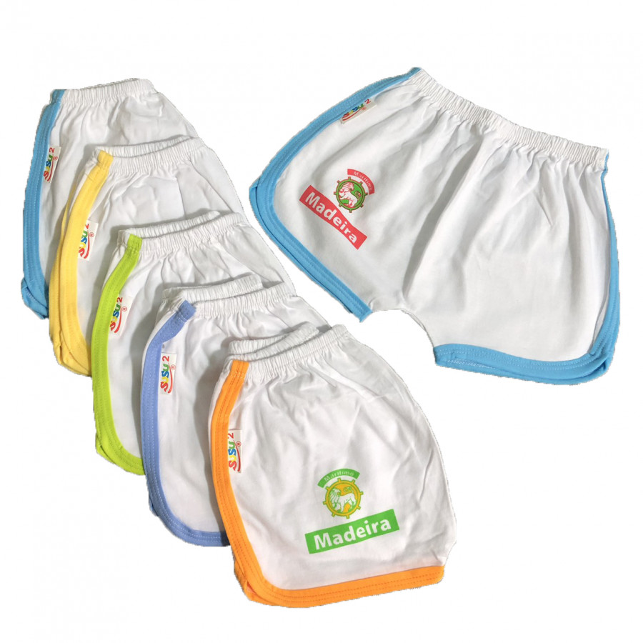 Combo 10 quần đùi trắng viền màu thể thao cho bé SUSU - 3