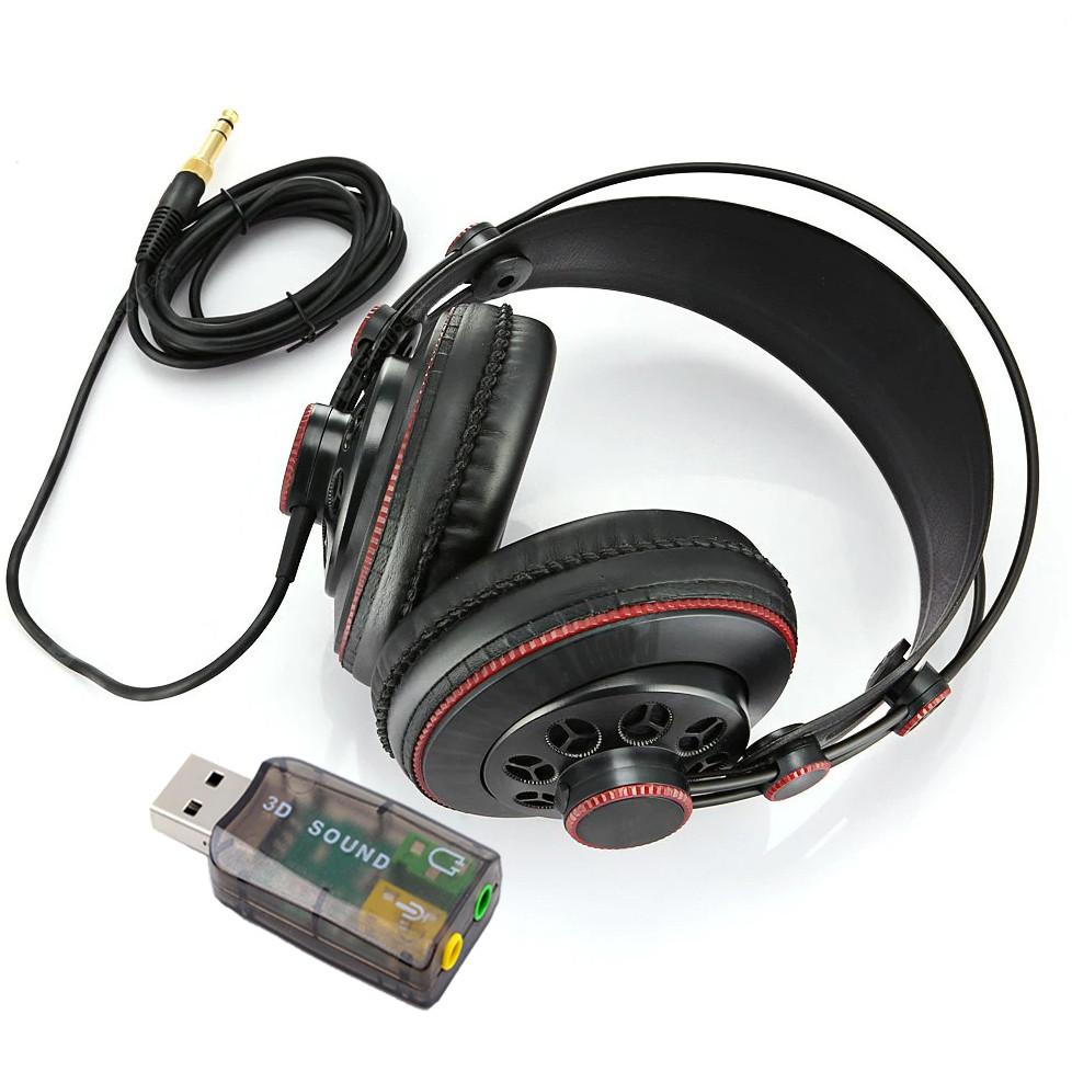 Tai Nghe Kiểm Âm HD681B Tặng Kèm USB Sound 5.1