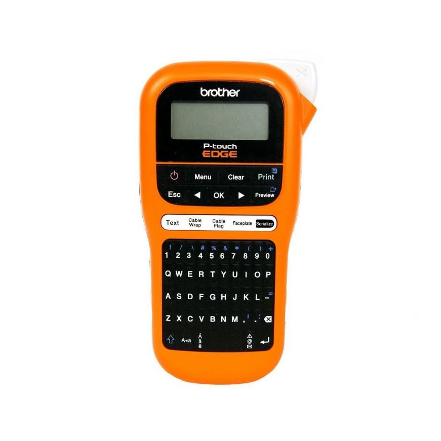 Máy in nhãn cầm tay Brother PT-E110, máy in nhãn cáp, nhãn dây điện, mạng - Hàng chính hãng