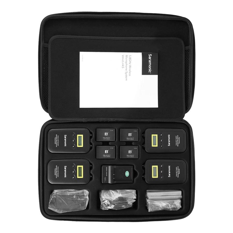 Micro Thu Âm Saramonic Vmiclink5 5.8Ghz Rx+3TX - Hàng Chính Hãng