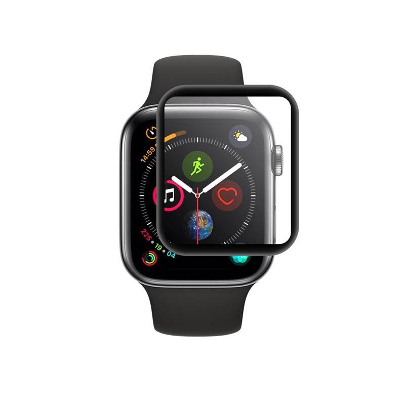 Dán màn hình Apple Watch Series 5/4 44mm GOR 3D full viền đen (Hộp 3 miếng) - Hàng Nhập Khẩu