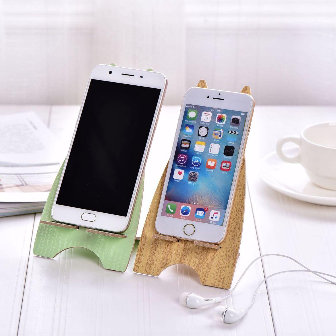 [COMBO 2 CHIẾC] Giá đỡ điện thoại hình thỏ dễ thương chất liệu bằng gỗ
