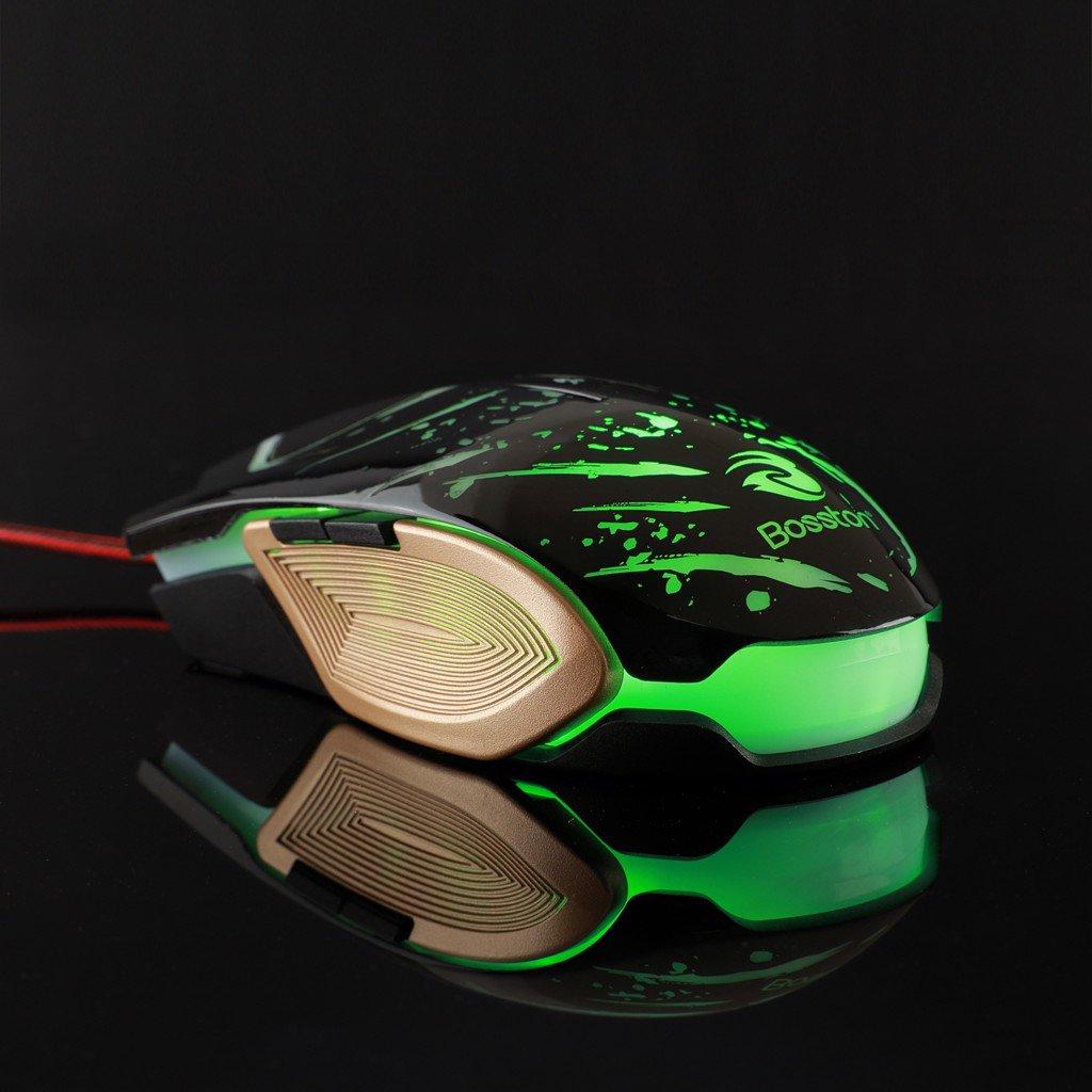 Chuột Chuyên Game Mouse Bosston GM100 Có Led Siêu Ngầu - Hàng Chính Hãng