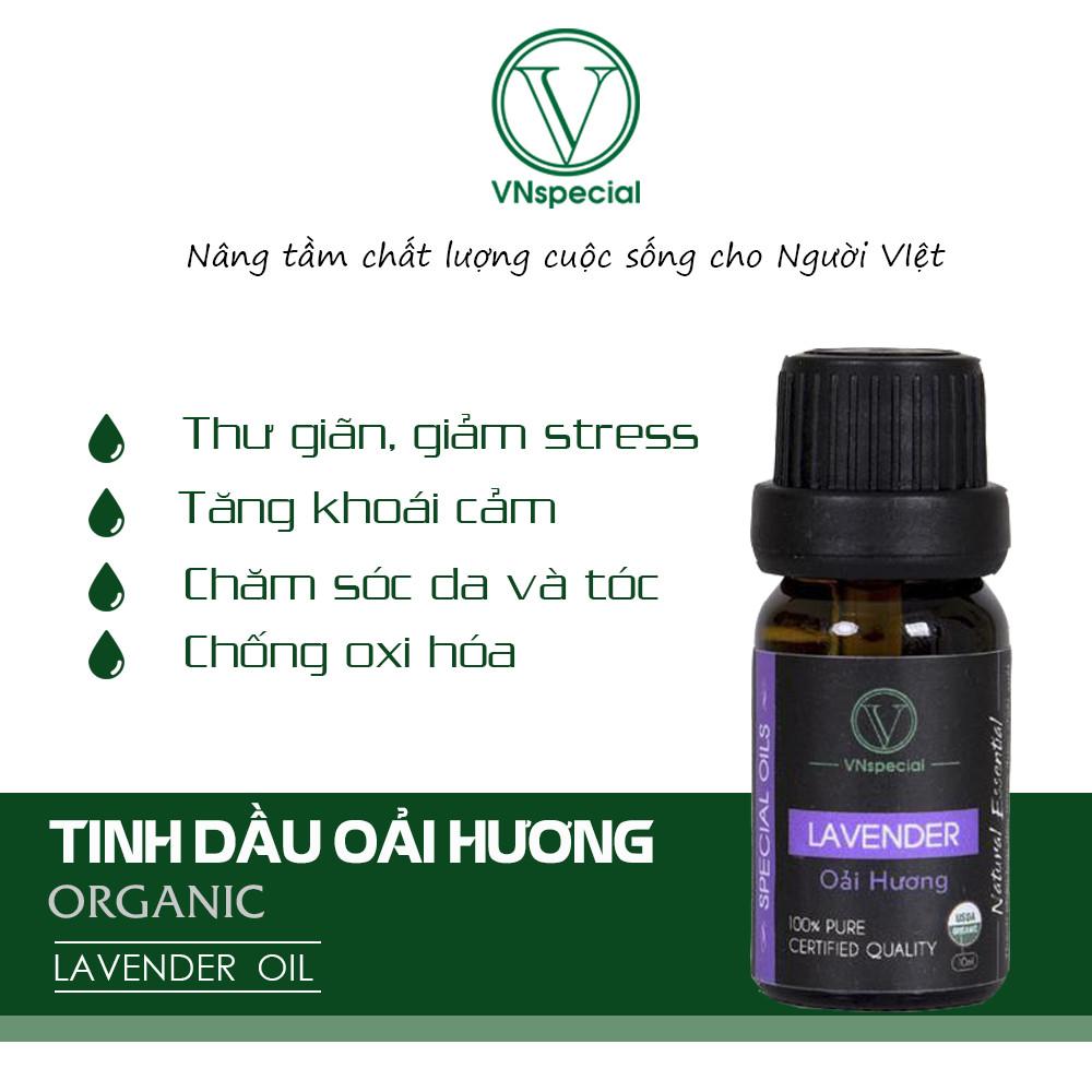 Tinh Dầu Hữu Cơ Oải Hương | Organic Lavender Oil | Tinh dầu Nhập Khẩu USDA - Vnspecial Oils (10ml)