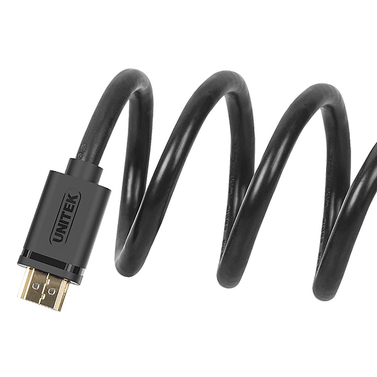 Dây cáp HDMI Unitek 1,5m hỗ trợ độ phân giải 4K - Hàng Chính hãng