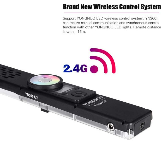 Đèn LED quay phim Yongnuo YN360 III Pro kèm Adapter hàng chính hãng.