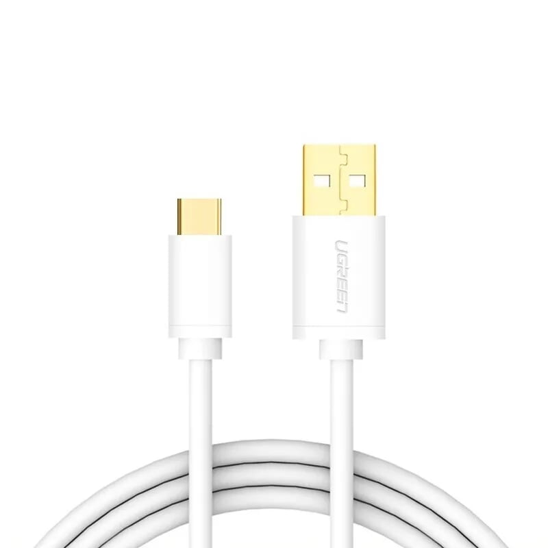 Cáp USB TypeC sang USB 2.0 vỏ PVC 1M màu Trắng Ugreen UC30165US141 Hàng chính hãng