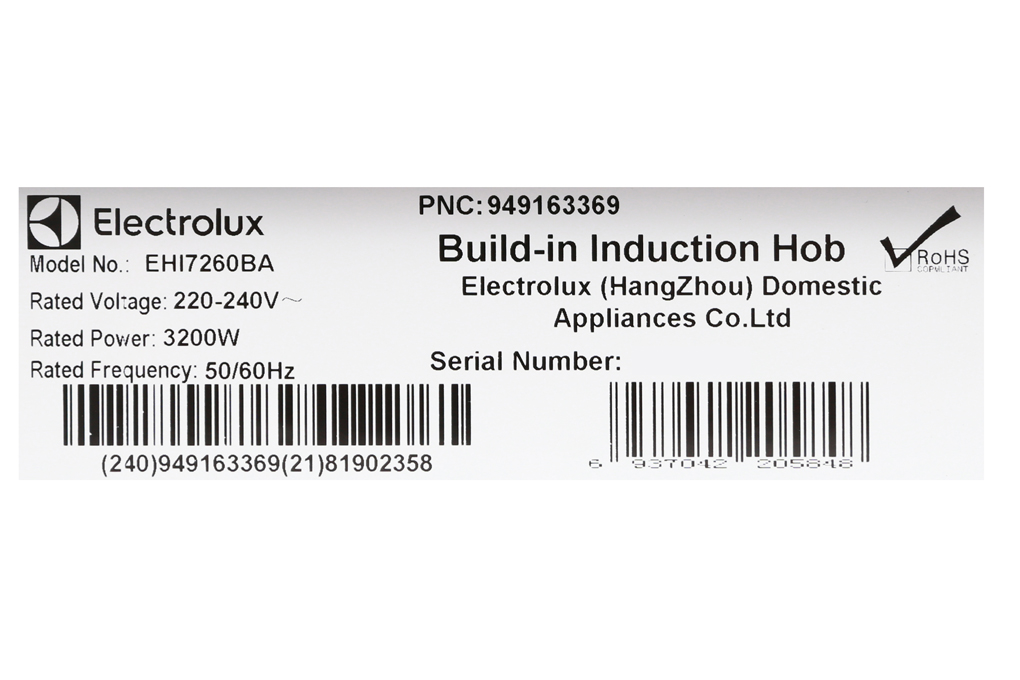 Bếp từ đôi Electrolux EHI7260BA - Hàng chính hãng