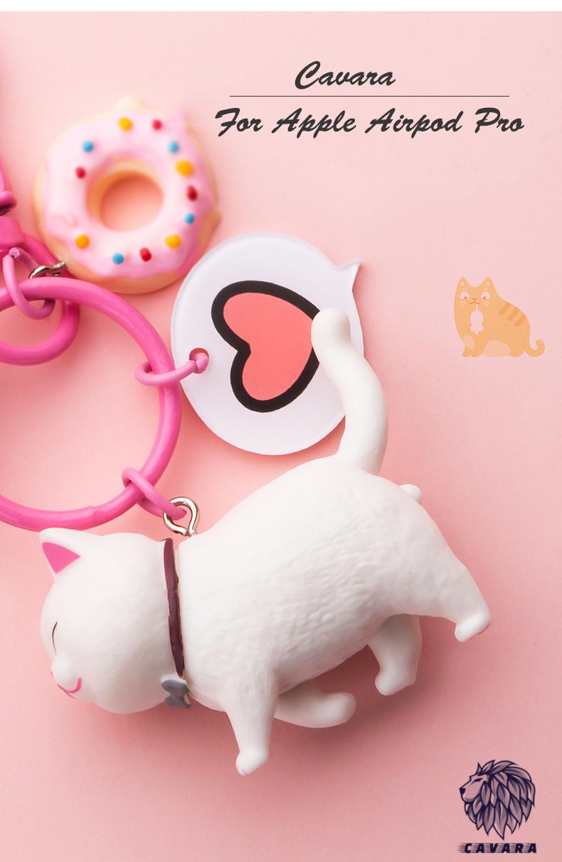 Bao Case Silicon 5 Món Cho Tai Nghe Apple Airpods Pro -  Bảo Vệ Hộp Airpods Pro Hình Tay Mèo Dễ Thương
