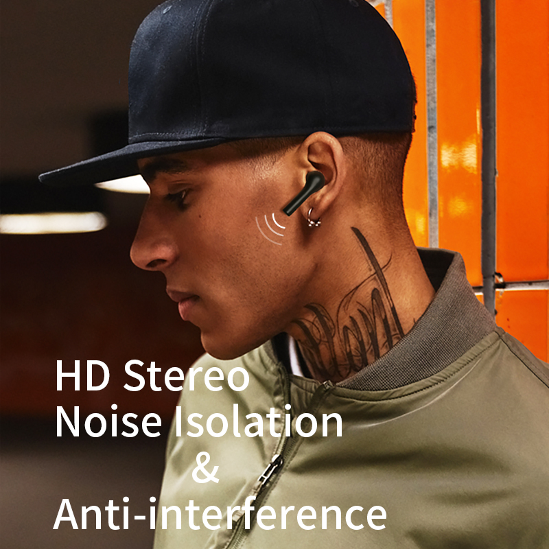 Tai Nghe Không Dây Bluetooth 5.0 True Wireless QCY- T5 - Cảm Ứng - Đàm Thoại - Chống Ồn - Hàng Chính Hãng