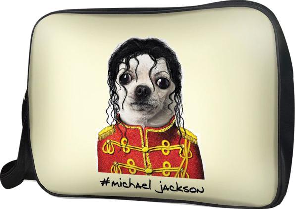 Túi Đeo Chéo Hộp Unisex Chó Micheal Jackson - TCAA213 34 x 9 x 25 cm