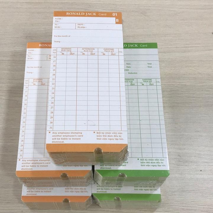 5 xấp thẻ giấy chấm công  chất lượng cao - Hàng nhập khẩu