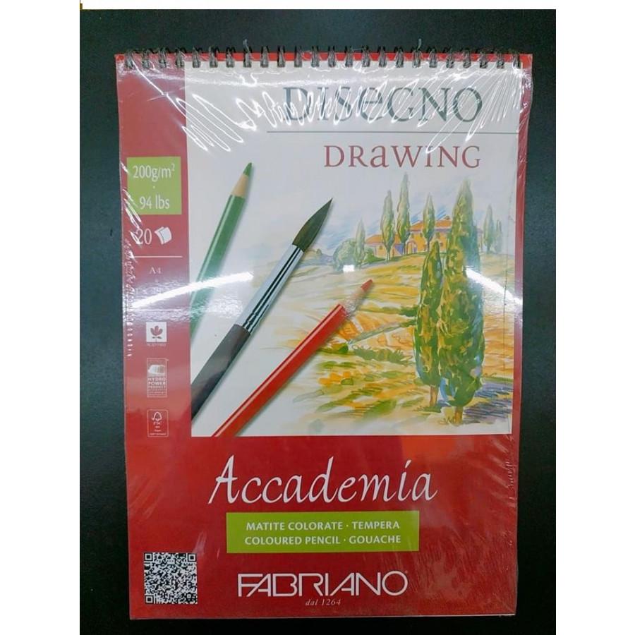 Sổ vẽ Fabriano a4 lò xo 200gsm