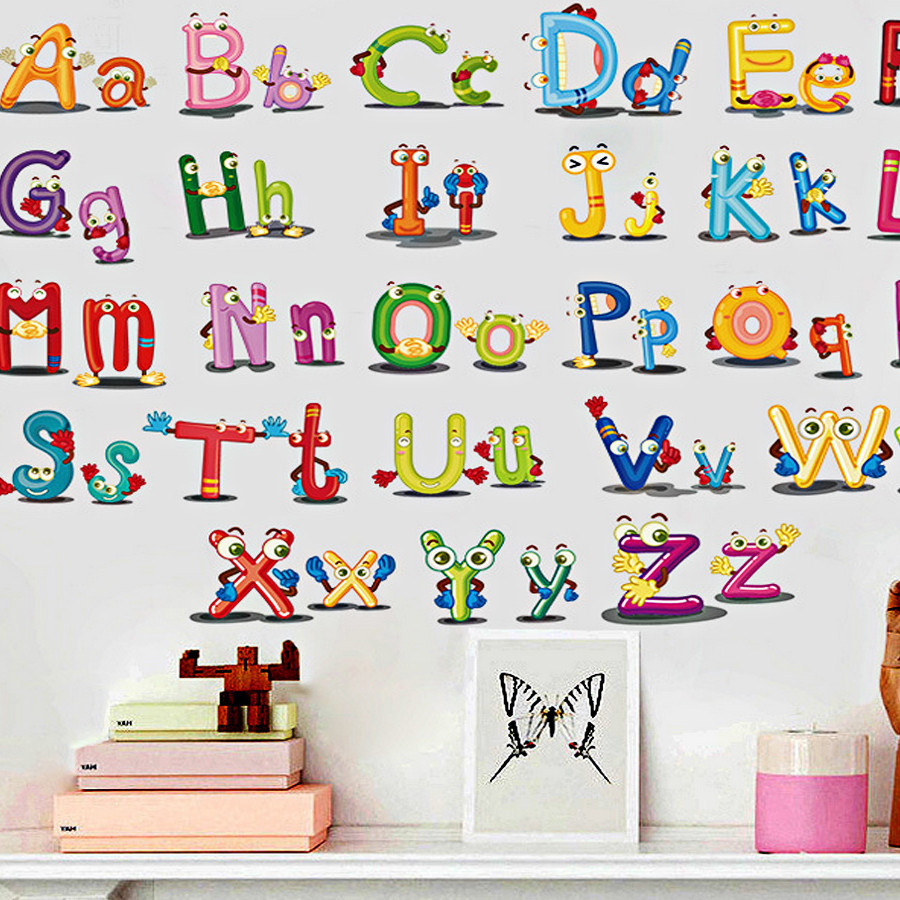 Decal dán tường Chữ Cái ABC