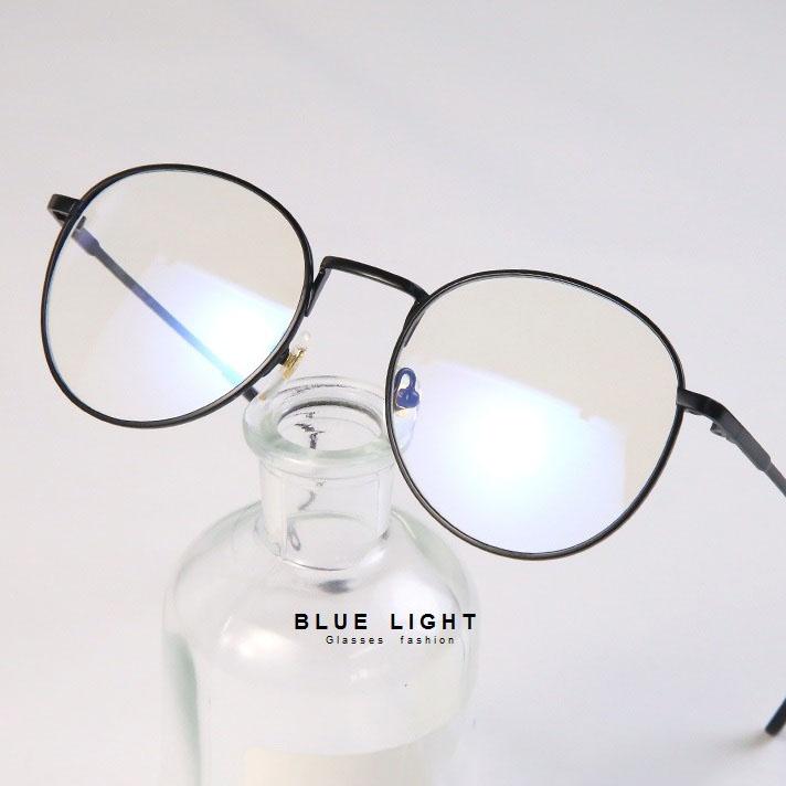 Kính Giả Cận, Gọng Kính Cận Nam Nữ Mắt Tròn Gọng Đen Không Độ Hàn Quốc - BLUE LIGHT SHOP