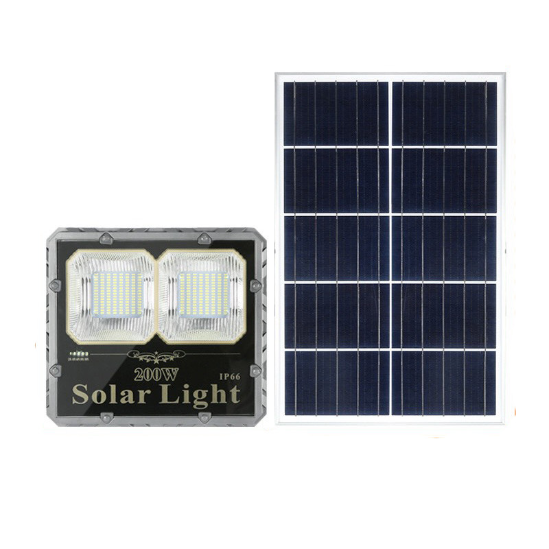 Đèn năng lượng mặt trời pha 200w lắp nhà kho, nhà xưởng