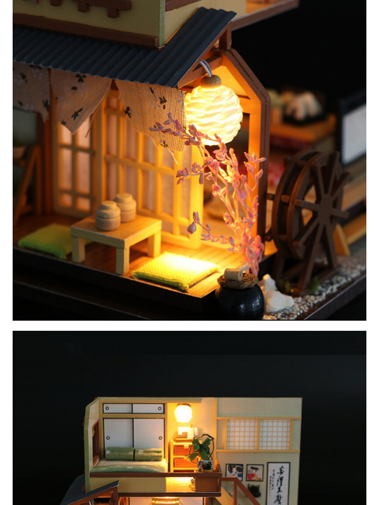 Mô hình nhà DIY Doll House Karuizawa's Forest Holiday Kèm Đèn LED