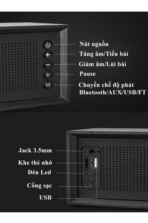 Loa Bluetooth Cao cấp Loa nghe nhạc PKCB V2 Âm thanh sống động cho trải nghiệm âm thanh cực đỉnh
