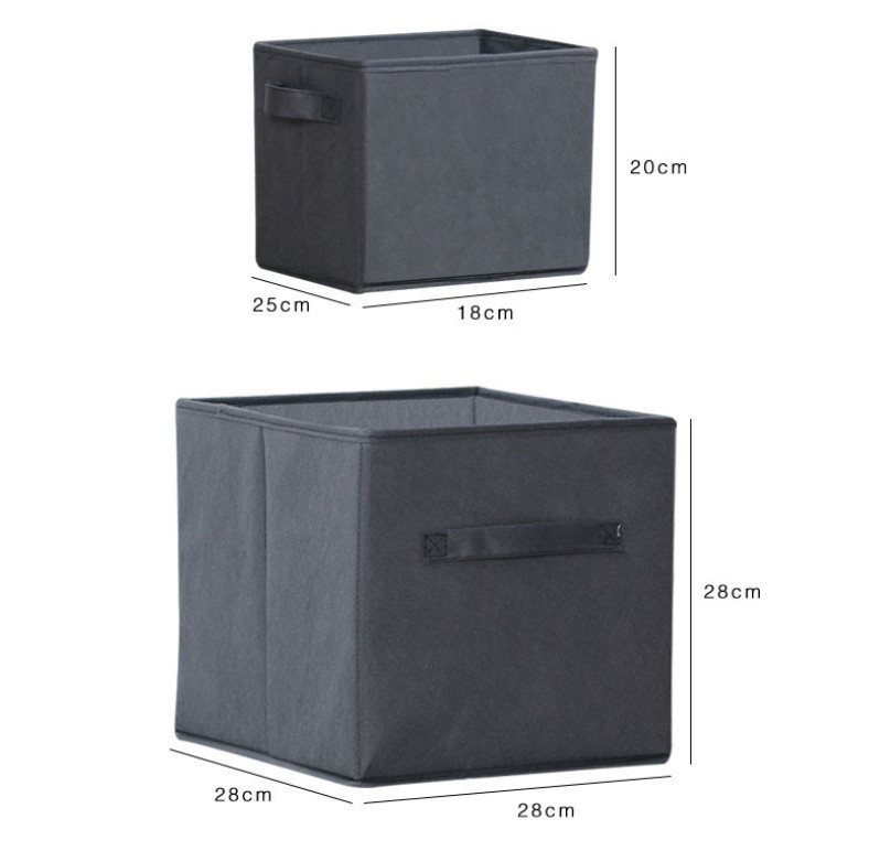 Bộ 2 Hộp Vải Đựng Đồ Đa Năng TD4 Gấp Gọn Cao Cấp, Túi Vải Thụy Điển Kích Thước 28x28x28cm Sang Trọng Không Nắp miDoctor