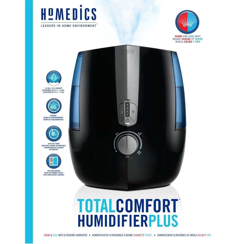 Máy phun sương tạo ẩm USA công nghệ siêu âm , khử khuẩn HoMedics TotalComfort  Humidifier Plus nhập khẩu USA