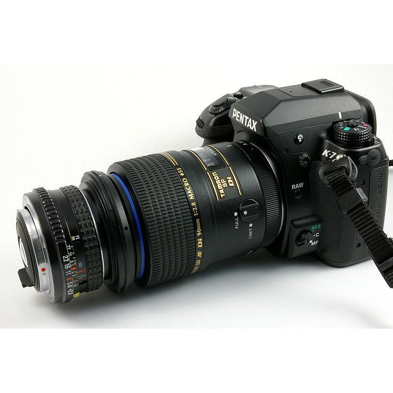 Ngàm đảo đầu, nối hai ống kính để chụp Macro