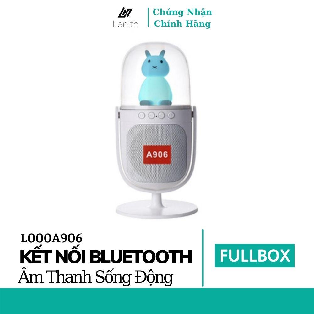 Loa Bluetooth Thỏ LANITH A906 Có Đèn Led RGB - Có Thể  Để Bàn Trang Trí Hỗ Trợ Thẻ Nhớ, Jack 3.5, USB - Hàng nhập khẩu
