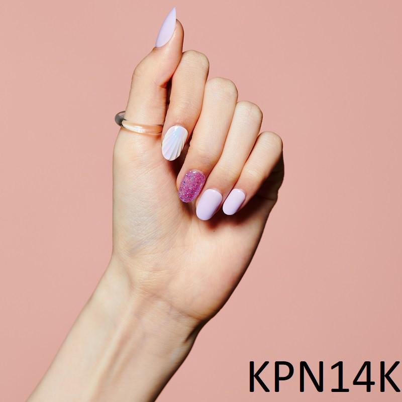 Bộ 30 Móng Tay Gel Dán Press & Go Kiss New York Nail Box - Purple Mermaid (KPN14K)