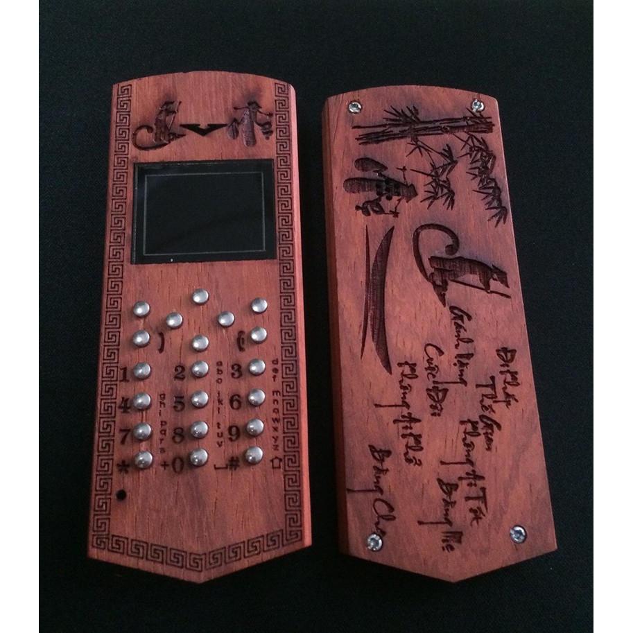 Vỏ gỗ cho điện thoại Nokia 2730