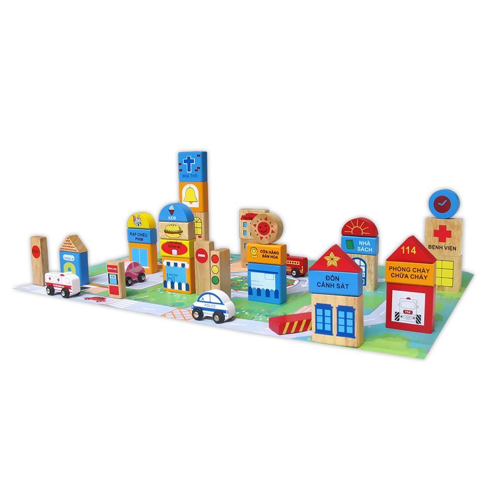 Đồ chơi gỗ Winwintoys - Thành phố tương lai - 60522