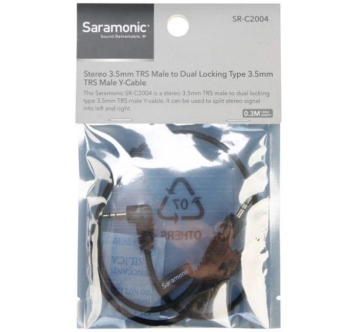 Dây cáp Saramonic SR-C2004 cho hai đầu thu không dây hàng chính hãng.