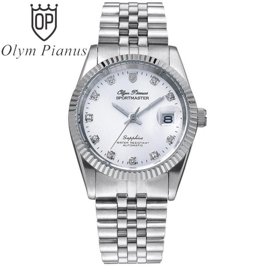 Đồng hồ nam dây kim loại Automatic Olym Pianus OP89322