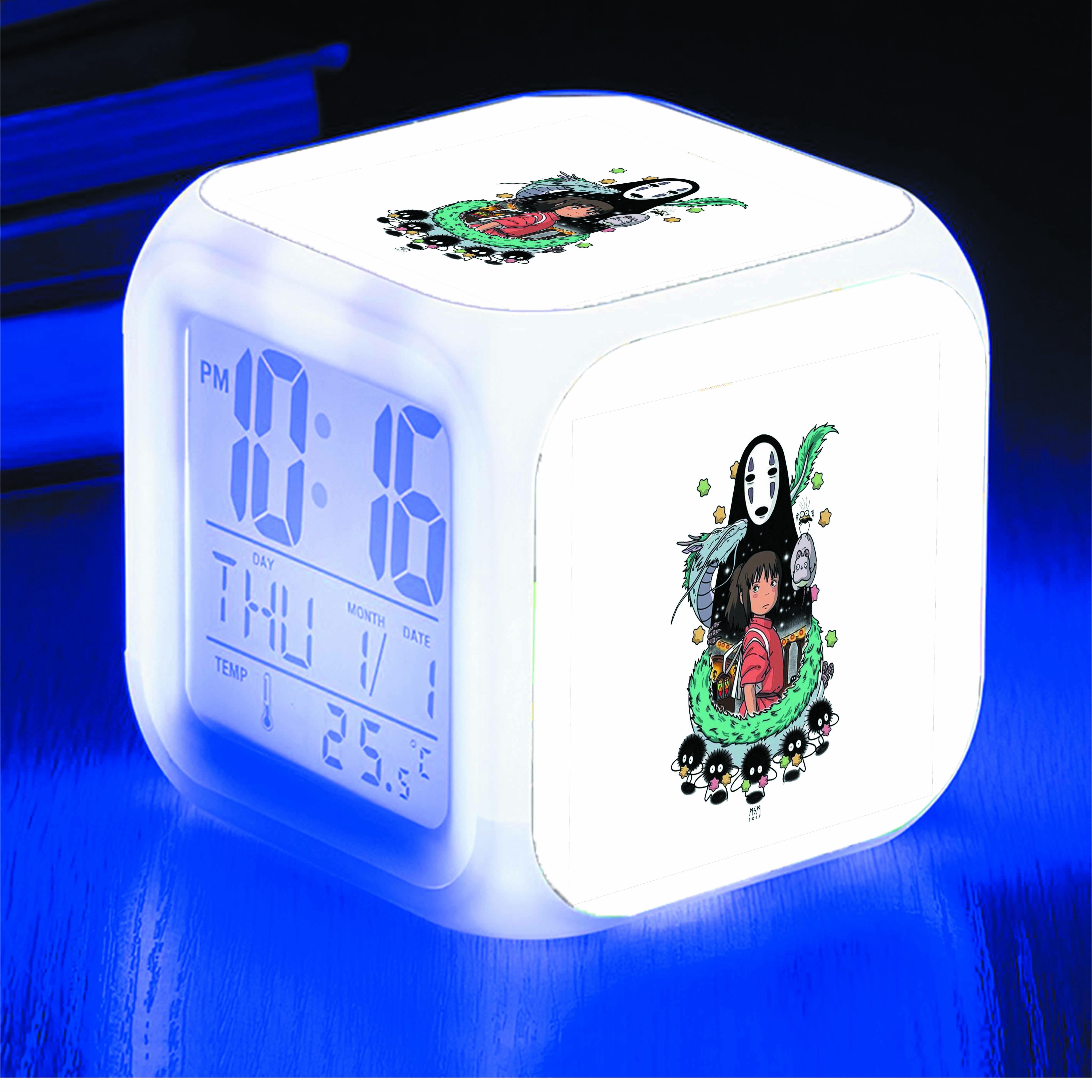 Đồng hồ báo thức để bàn IN HÌNH Spirited Away - Vùng Đất Linh Hồn anime