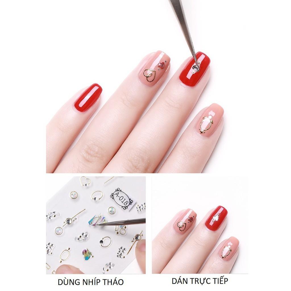 Sticker nails - hình dán móng 3D dâu tây