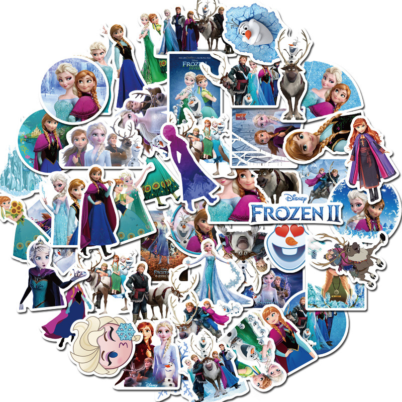 Sticker 50 miếng hình dán Frozen