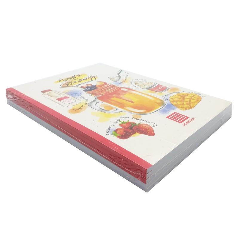 Vở Kẻ Ngang Cocktail - 80 Trang Không Kể Bìa - ĐL 70 - Mẫu 1 - Mango & Strawberry - Màu Đỏ