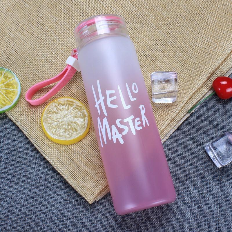 BÌNH THỦY TINH DÂY XÁCH HELLO MASTER 450ML