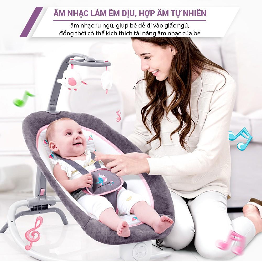 Ghế rung cho bé sơ sinh Mastela 6915/6917 có đồ chơi kèm nhạc trắng ru ngủ, 4 nấc điều chỉnh độ cao gọn nhẹ tiện lợi