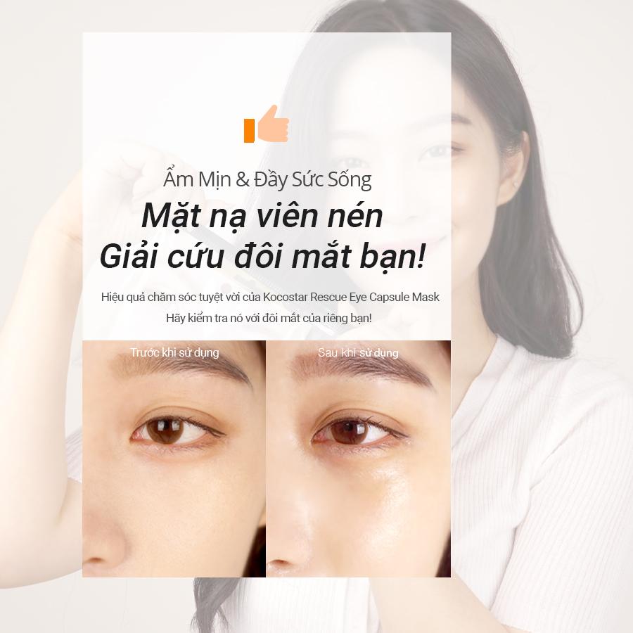 Tinh chất dưỡng & chống nhăn cho mắt Kocostar Rescue Eye Capsule Mask