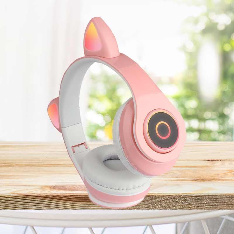 TAI NGHE WIRELESS HXZ-B39 - LED CAT EAR (MÀU NGẪU NHIÊN)