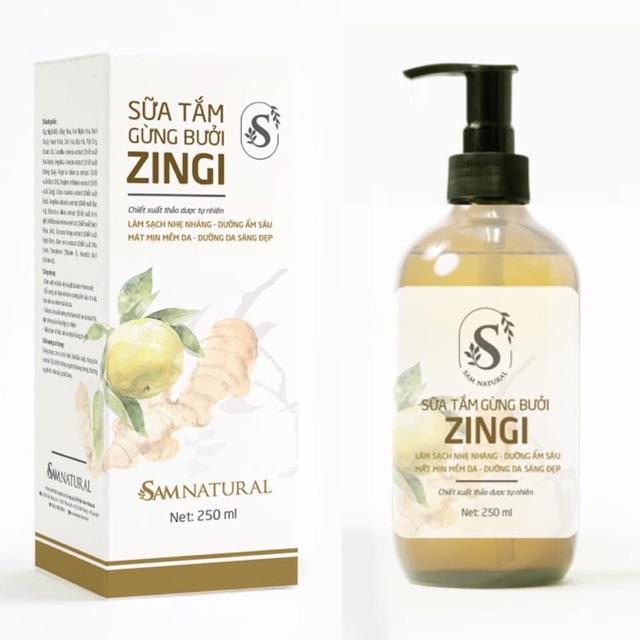 Sữa tắm gừng bưởi Zingi Samnatural  250ml