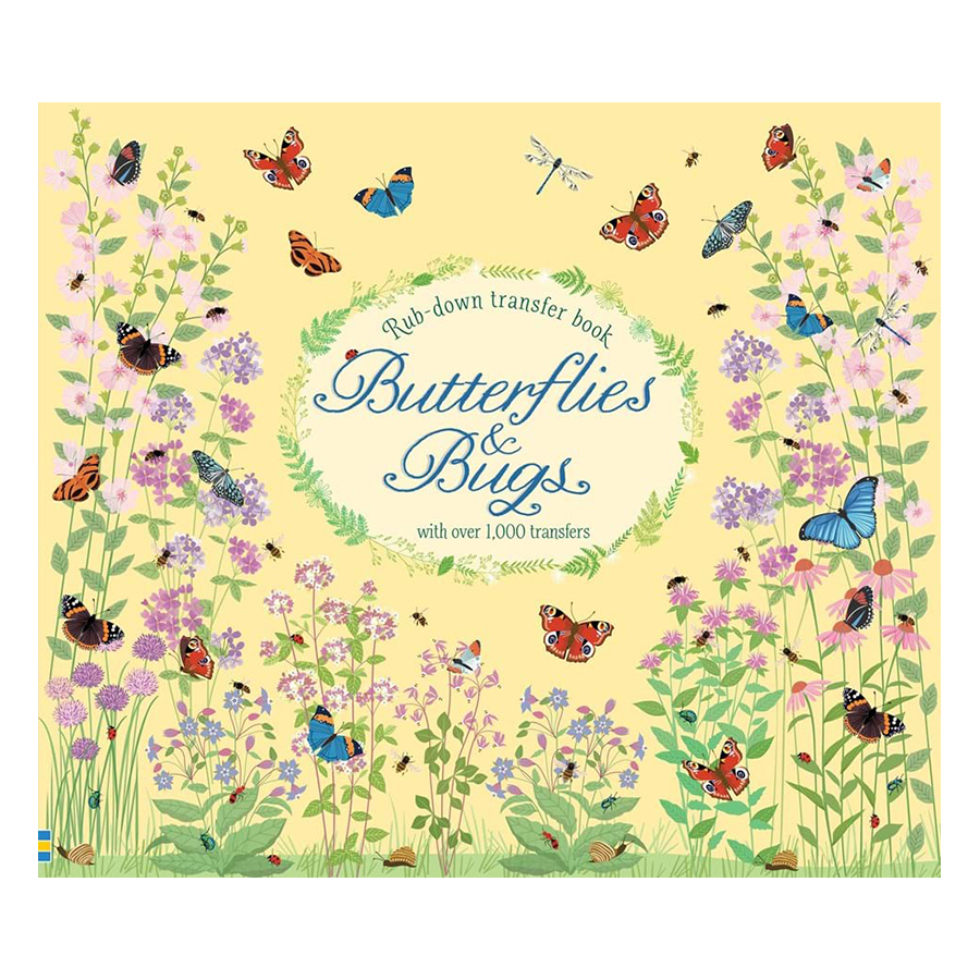 Usborne Rub-down transfer book Butterflies and Bugs