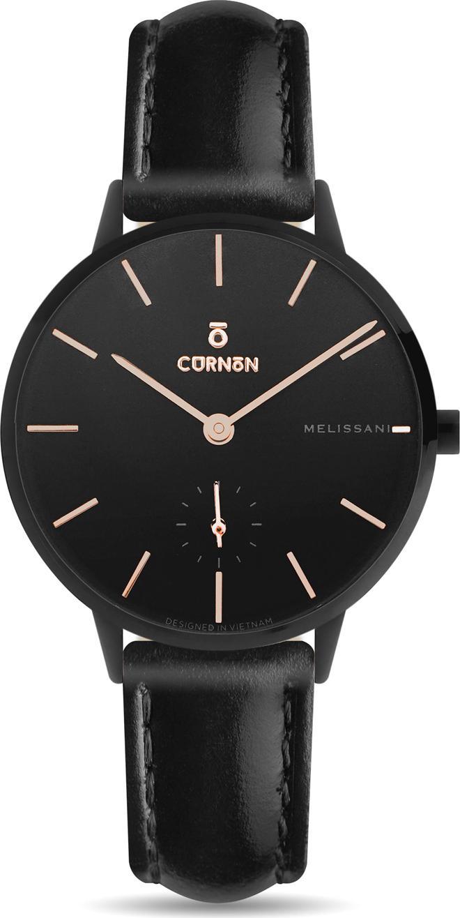 Đồng hồ nữ Dây Da Curnon Melissani Storm Kính Sapphire (32mm)