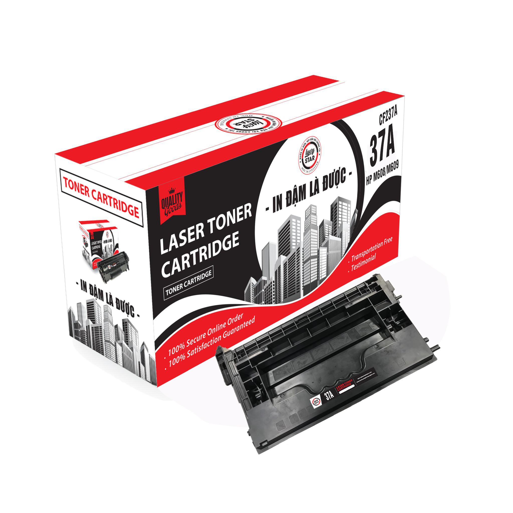 Mực in Lyvystar 37A (CF237A) dùng cho máy HP LaserJet Enterprise M607dn - Hàng chính hãng