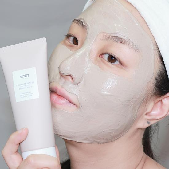 Mặt Nạ Đất Sét Làm sạch sâu, cân bằng da và thu nhỏ lỗ chân lông Huxley Clay Mask; Balance Blend minisize 30g + Tặng Kèm 1 Băng Đô Tai Mèo (MÀu Ngẫu Nhiên)