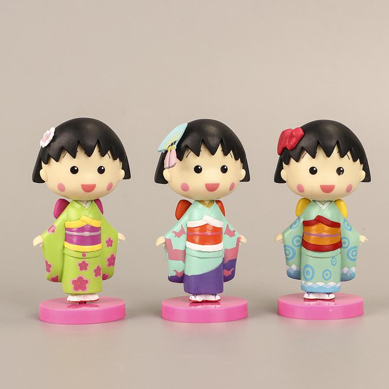 Tượng trang trí Maruko mặc kimono - 1 chiếc (phát màu ngẫu nhiên)