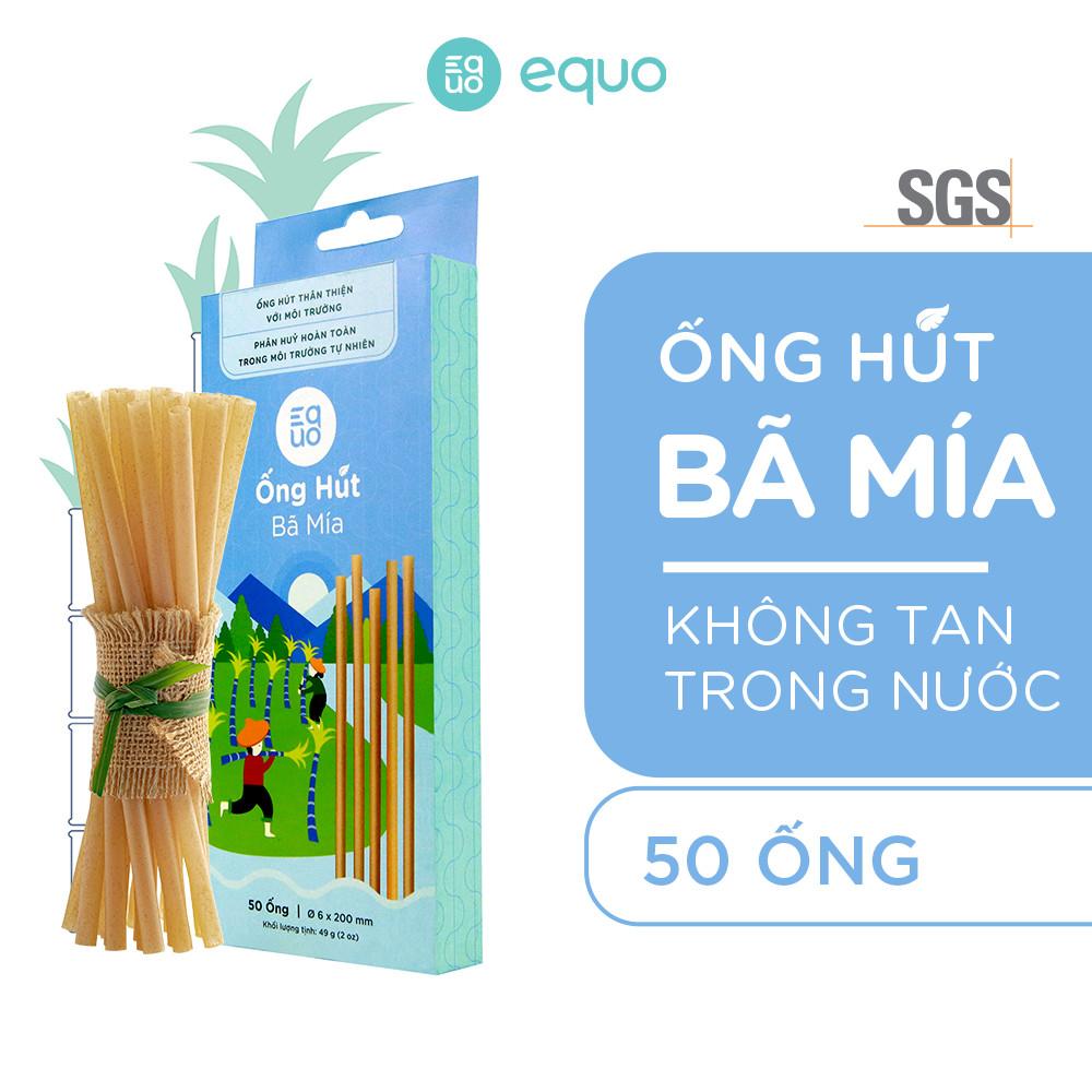 Combo Ống hút cỏ bàng tự nhiên phân hủy 30 ngày (50 ống) và Ống hút bã mía không tan trong nước (50 ống)