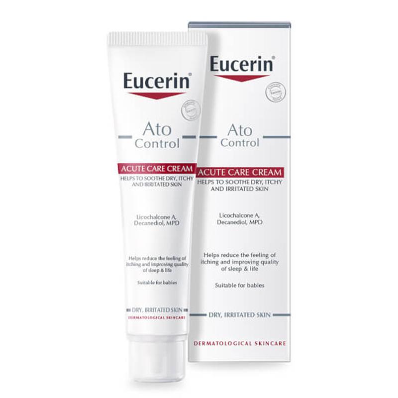 Kem Dưỡng Ẩm, Giảm Kích Ứng, Ngứa Eucerin Atocontrol Acute Care Cream (40ml) KBM02