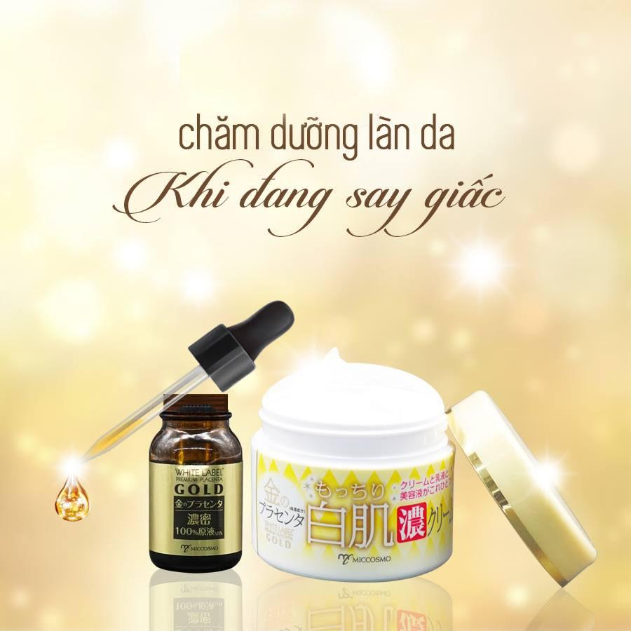 Kem Dưỡng Trắng, Chống Lão Hóa Từ Nhau Thai Và Collagen Từ Nhật Bản White Label Premium Placenta Rich Gold Cream Hũ 60gr