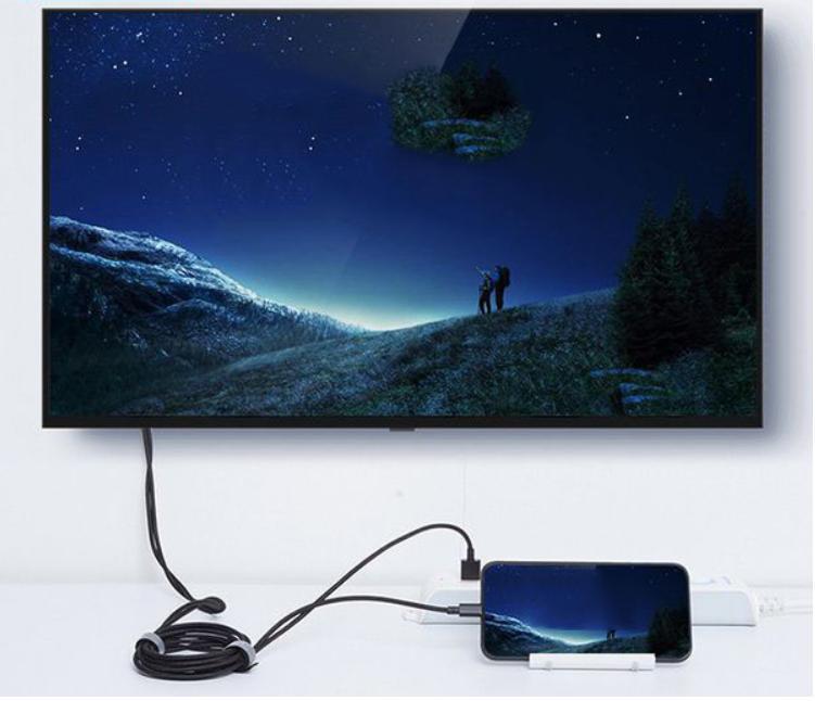 Cáp Lightning to HDMI Earldom W14 (Độ Phân Giải 4K) Hàng chính hãng màu đen